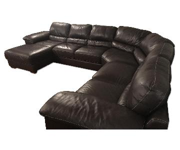 Natuzzi Cindy Crawford Maglie 4-Piece Leather Sectional Sofa